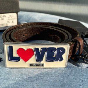 NWT DSQUARED Lover Logo Men's Belt